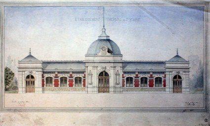 A Percilly. Etablissement thermal de Saint Yorre 1886