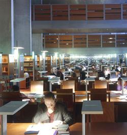 Salle de lecture du Rez-de-jardin © Alain Goustard / BnF