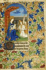 Extrait du Livre d'heures de Jeanne de France