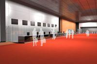 Préfiguration du hall est © Agence Explorations architecture