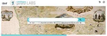 Interface version Labs publique du Catalogue général