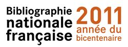 Logo du bicentenaire de la Bibliographie nationale française