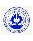 Logo de l'Université Cheikh Anta Diop,           Dakar
